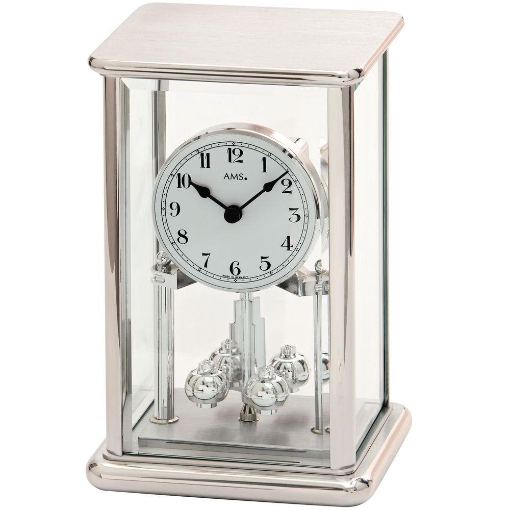 AMS 1210 Jahresuhr Quarz Mineralglas mit Metallgehäuse